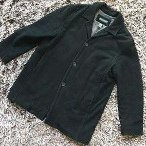 Banana republic coat jacket wool cashmere L black